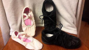 Dance shoes-ballet and jazz sneakers- size 6