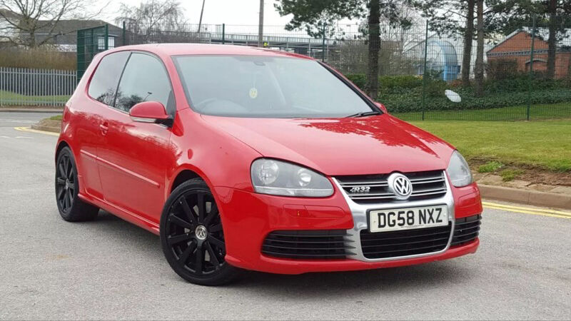2008 58 golf r32 mk5 in red for sale with full miltek. Black Bedroom Furniture Sets. Home Design Ideas