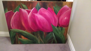 Red Tulip Painting