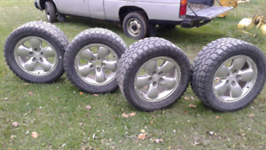 set of tires and rims  size LT 325/50R20