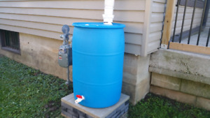 "$100 - 1/4"" THICK HIGH GRADE FOOD SAFE READY MADE RAIN BARRELS"