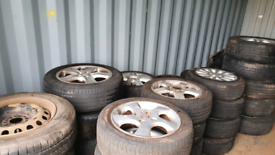Numerous Sets of wheels for sale. Alloys, steels, most with tyres.