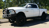 2014 DODGE RAM 3500 LARAMIE LIFTED WITH BOARDS, BUMPER & WINCH