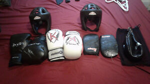 Barely used boxing equipment