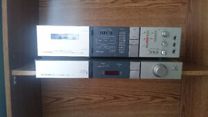 Vintage Pioneer Cassette Player and Tuner Combination