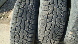 four hankook ipike rw 11 winter tires lt 265 70 17 load range E