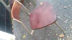REDUCED!High Quality Wood and Metal Chairs 10$ each Kingston Kingston Area image 2
