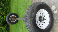 DEXTER 8000lb TORFLEX Axle with 8 Bolt Rims and E Rated Tires