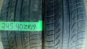 Pairs of R19 all season car and SUV tires