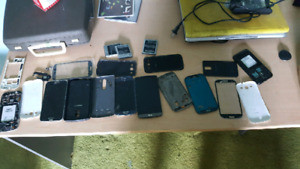 Cell phones for parts. Assortment