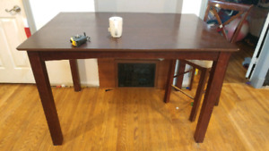 Dining or kitchen table with 2 chairs.