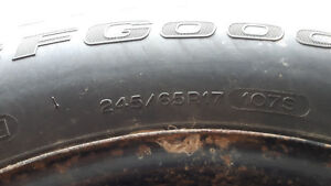 """4 - 17""""  245/65 winter tires on rims for sale"""