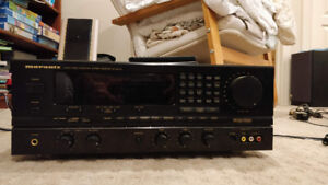 Stereo Receiver, CD Player, & 10 Speakers