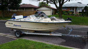McKee Craft Fishing Boat , 150 HP Motor and Trailer for Sale
