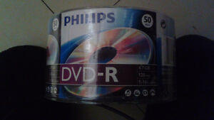 New Phillips Dvd-r 4.7 gb  Pack of 50 discs