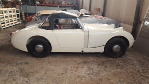 White 1959 Austin Healey Bugeye Sprite - 90% restored