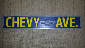 Chevy Avenue Sign Metal Embossed GM Man-Cave