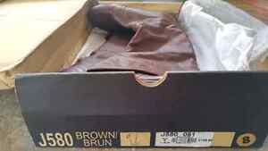 Brown leather boots - Le Chateau size 8