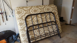 Double Bed Frame, Box Spring and Matress