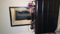 MODERN BEDROOM SET - 2 YRS OLD - GOOD CONDITION