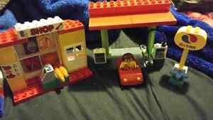 Lego duplo gas station set!