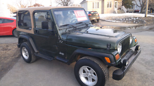 Jeep tj 1997 4 cylindres 2.5 litres