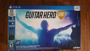 Guitar Hero Live for PS4 with 2 guitars