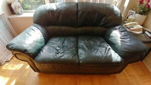 Comfy leather sofa