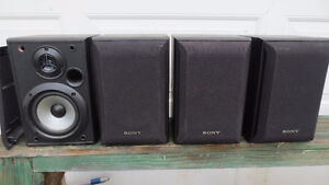 Four matched Sony 5.25 inch 2 way bookshelf speaks (Never used)