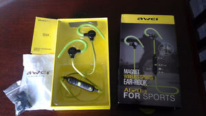 NEW IN BOX ( awei ) BLUETOOTH HEADSET , $35 OBO.