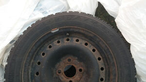 """15"""" Goodyear Nordic Winter Tires 195/55R/15 and rims X4 Belleville Belleville Area image 3"""
