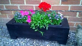 Pair Of Rustic Handcrafted Free Standing Flower / Plant Box / Planters