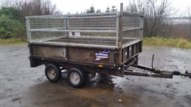 8 X 5 ifor Williams dropsides trailer high mesh sides removable