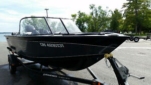 2 WEEKS OLD  - 18 XTREME BOAT -90 MERCURY WITH TRAILER