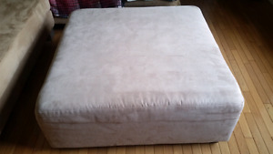 Ottoman 41x41 inches, 16 inches high In mint condition