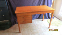 ---DANISH TEAK DESK WITH LIFT-UP ADJUSTABLE TOP!