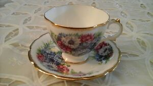 FINE BONE CHINA CUP & SAUCER - ROYAL STUART, ENGLAND