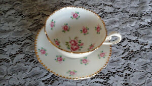 FINE BONE CHINA CUP AND SAUCER, ROYAL STAFFORD, ENGLAND