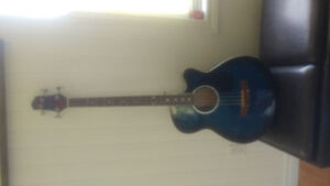 BC 4-string electric/acoustic bass guitar