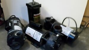 Various Pool, Spa Irrigation and Heating AC Pumps for sale