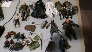 Lord of the Rings Movie Action Figures Lot - LOTR