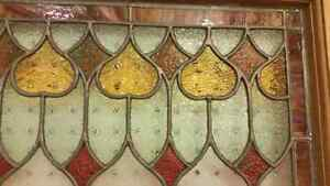Beautiful colorful antique stained glass window London Ontario image 1