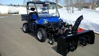 "2012 Polaris Ranger 800 with 27hp Berco snowbower 66""sold"