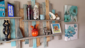 RUSTIC WALL SHELVES AND CONSOLE TABLES