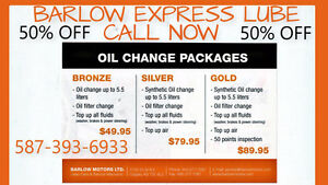 50% OFF Oil Change!!!+ Free Inspection