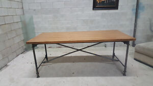 Brand new rustic dining table