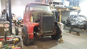 53-56 ford coe right fender