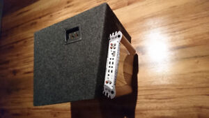 """Excellent condition 12"""" Sub with 600W amp for car audio"""