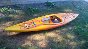 Pelican 12' kayak with paddle, great condition