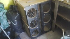 """6 12"""" SUB BOX WITH 8 GUAGE WIRING ALL READY TO GO"""